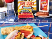 summer hot dog grilling station for a summer party plus free printables