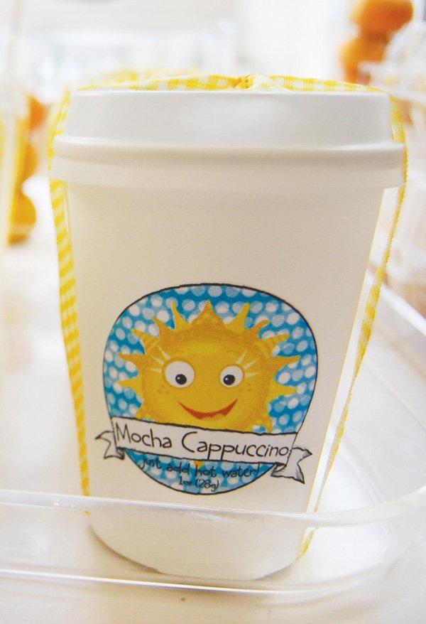 sunny mocha cappuccino cup