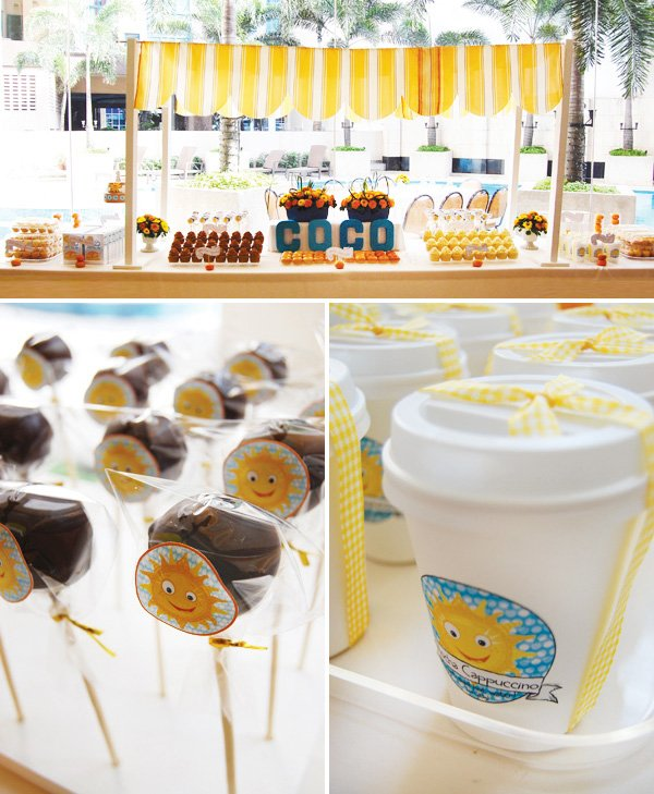 sunshine breakfast brunch cake pops