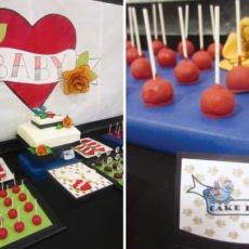 tattoo inspired baby shower cake pops