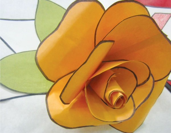 tattoo inspired baby shower paper flower