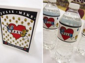 tattoo inspired baby shower water bottle labels