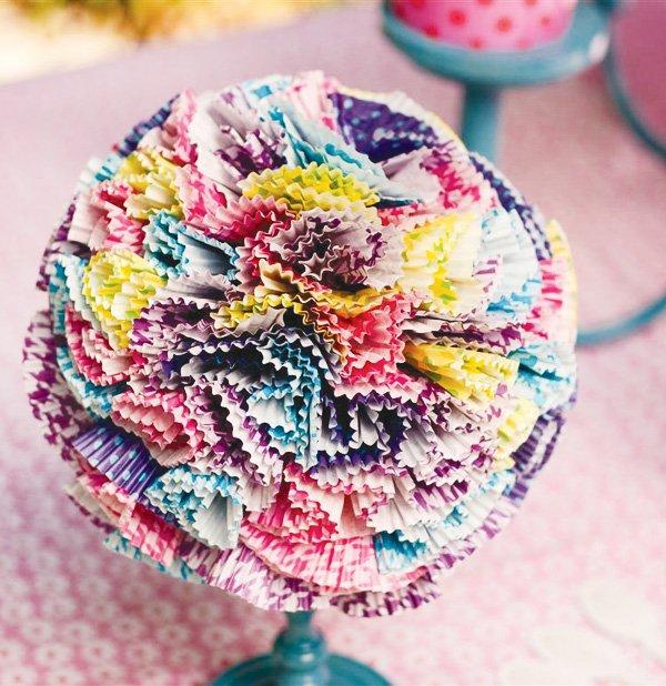 tea party diy cupcake liner craft
