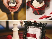 twilight party cupcakes - breaking dawn