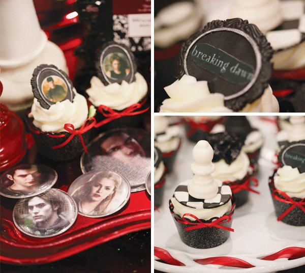 twilight breaking dawn dessert table cupcakes