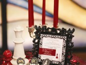 twilight breaking dawn red candles and chess pieces as decor