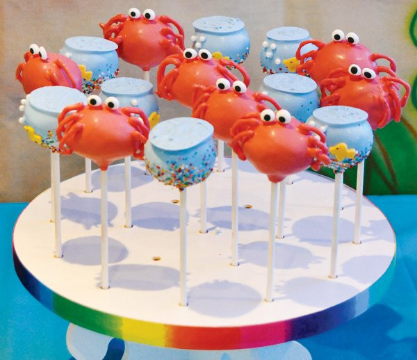 under the sea crab cake pops