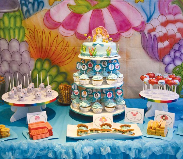 under the sea dessert table