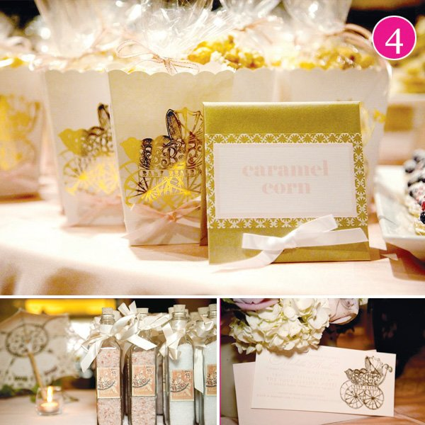 vintage carriage baby shower