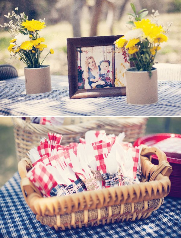 vintage county fair party centerpieces