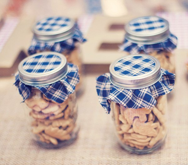 vintage county fair party animal crackers in mason jars