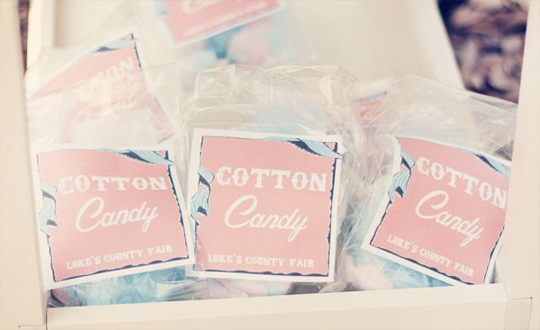 vintage county fair party cotton candy