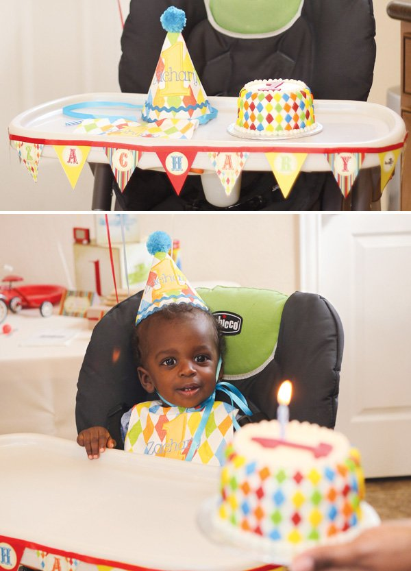 vintage toy first birthday high chair bunting
