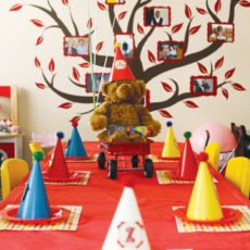 vintage toy first birthday kids table