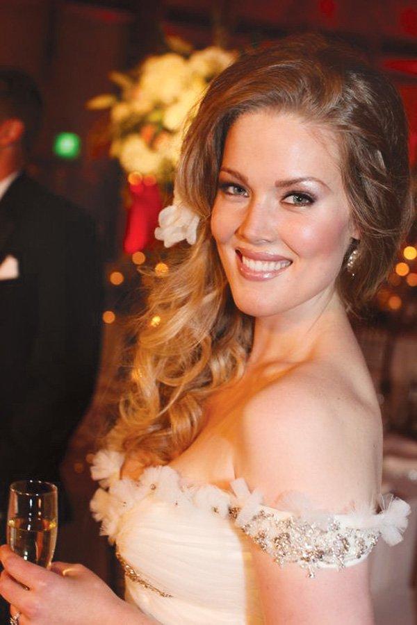 white wedding bride