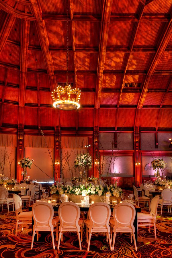 elegant white wedding crown room in the hotel del coronado