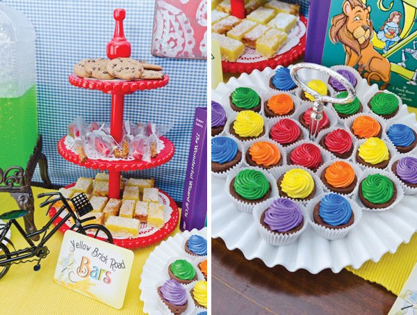 wizard of oz birthday party rainbow sweets