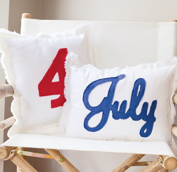 4th of july chair pillows