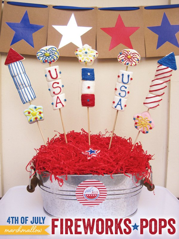4th of July Fireworks Pops - Marshmallow Pops