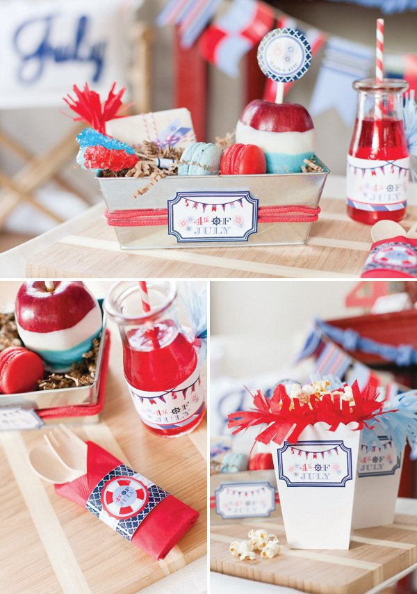 july 4th napkin ring printables
