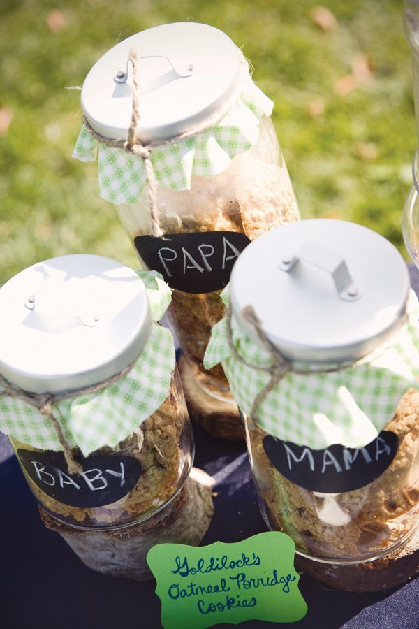 Mason jars with painted chalkboard labels