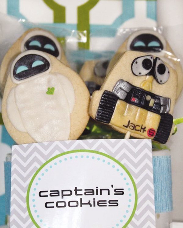wall-e and eve sugar cookies