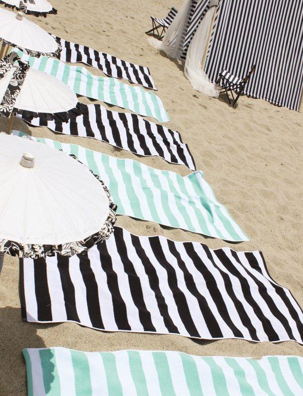 beach glam striped towels