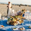 beachy california coastal wedding tablescape