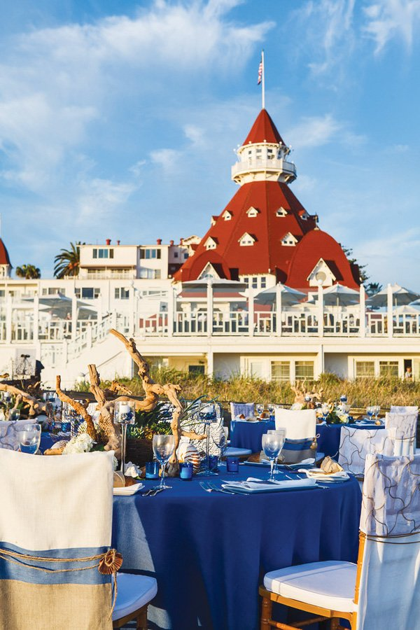 beachy california coastal wedding at the hotel del coronado