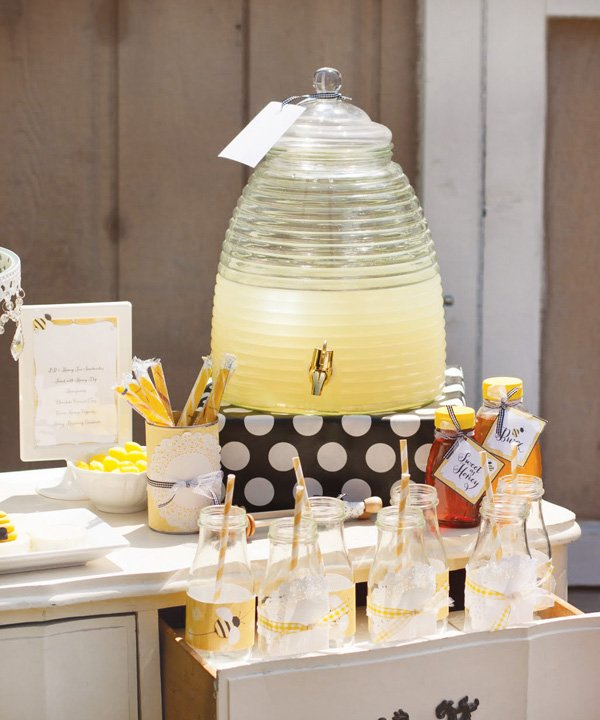 bee tea party drink station