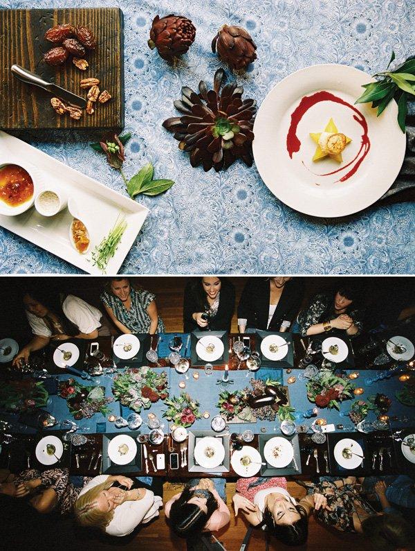 dutch stil life theme for a blogger dinner party