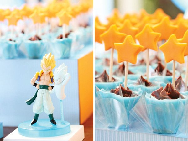 Orange star dessert