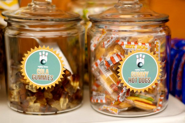bowlfest bowling party candy jars