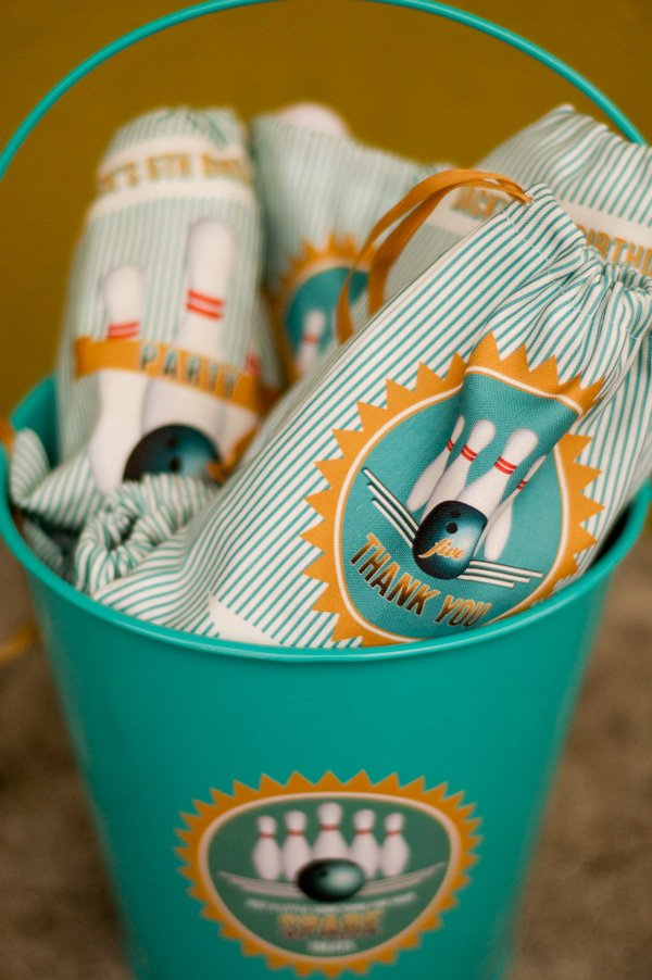 Bowlfest Custom Fabric Party Favor Bags