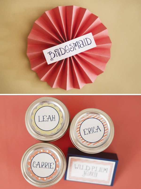 bridesmaid paper rosettes