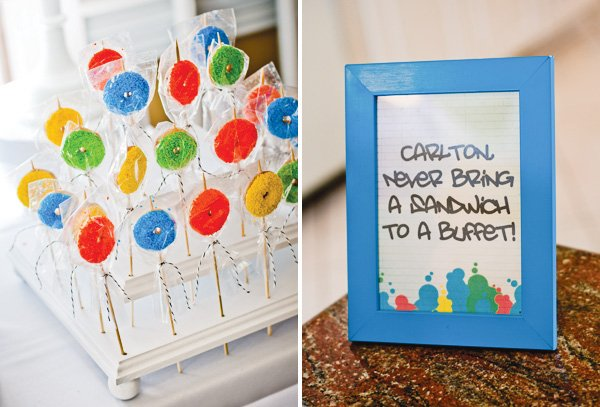 Carlton Fresh Prince framed quote and mini donuts on a stick