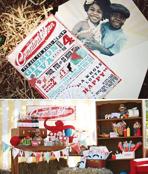 carnival birthday party invitation