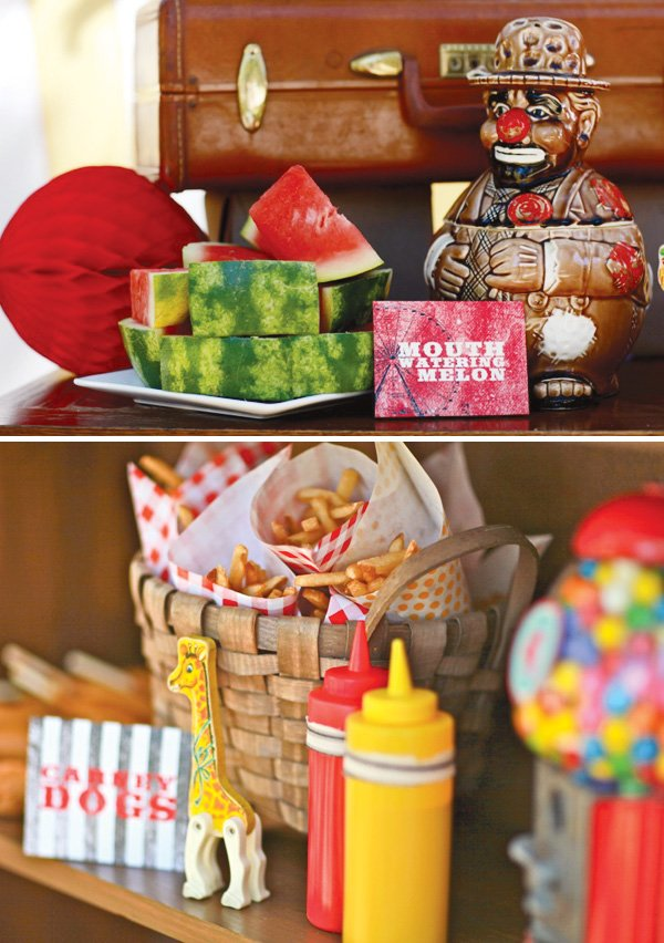 carnival theme food