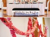 chanel & french inspired bridal shower with a carnation garland