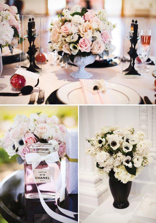 chanel bridal shower florals