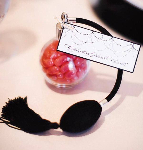 chanel french bridal shower perfume favors