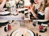 french chanel inspired bridal shower place settings