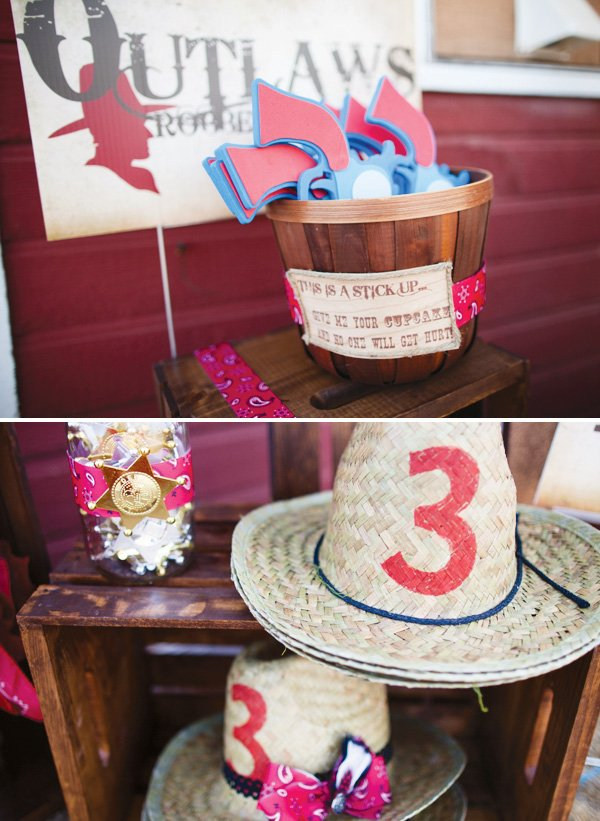 cowboy hats and sheriff badges