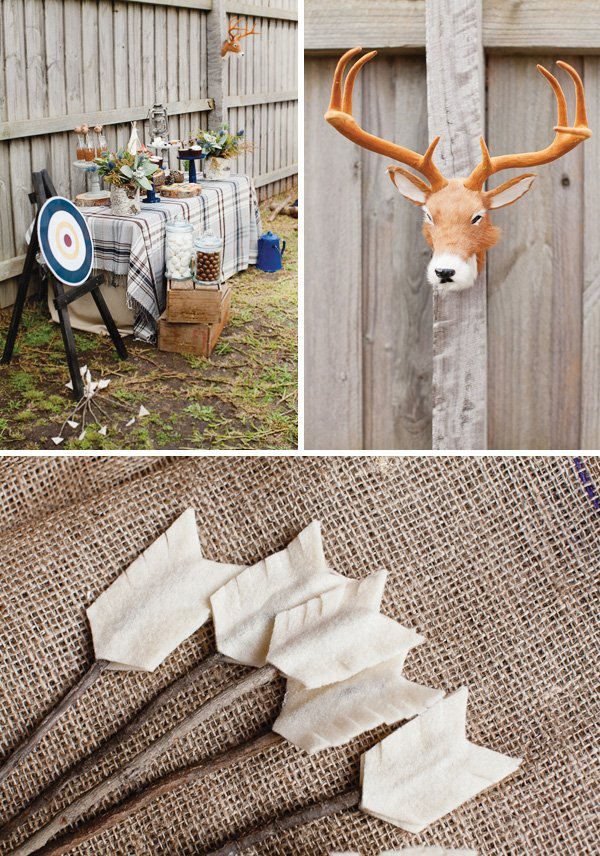 DIY archery target and felt arrows