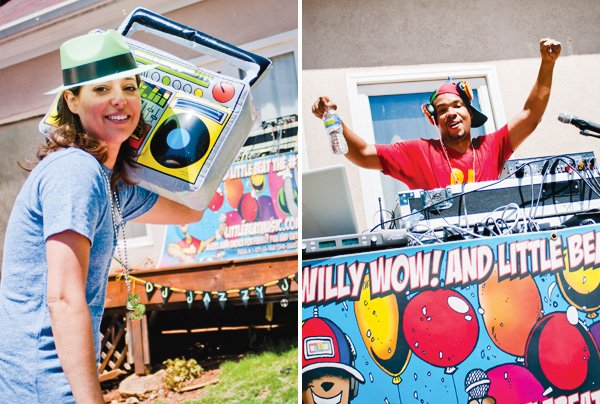 Fresh Prince party with inflatable boom box
