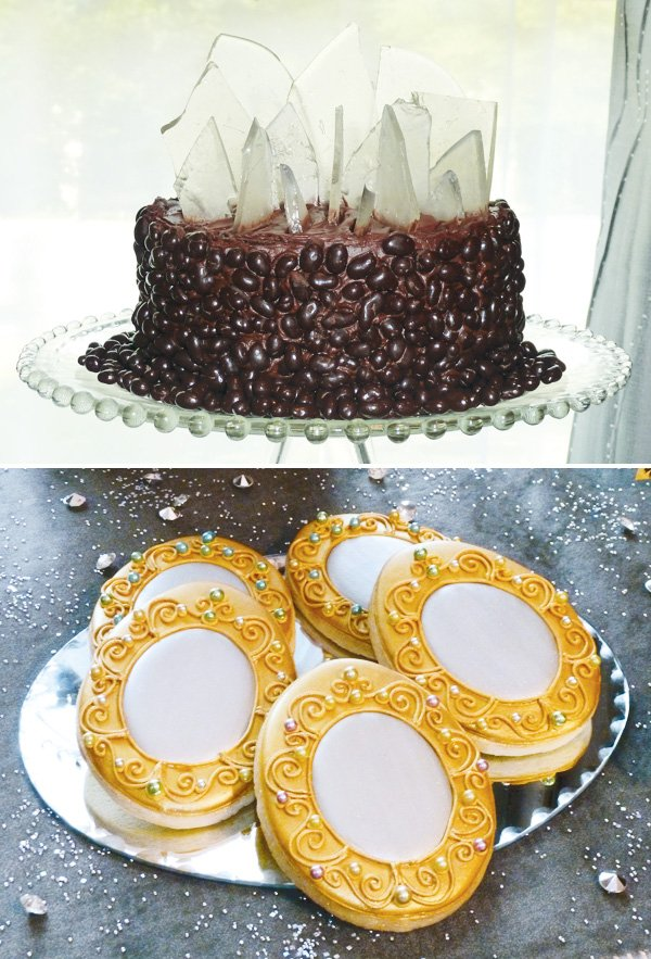 snow white mirror mirror cookies and evil queen cake