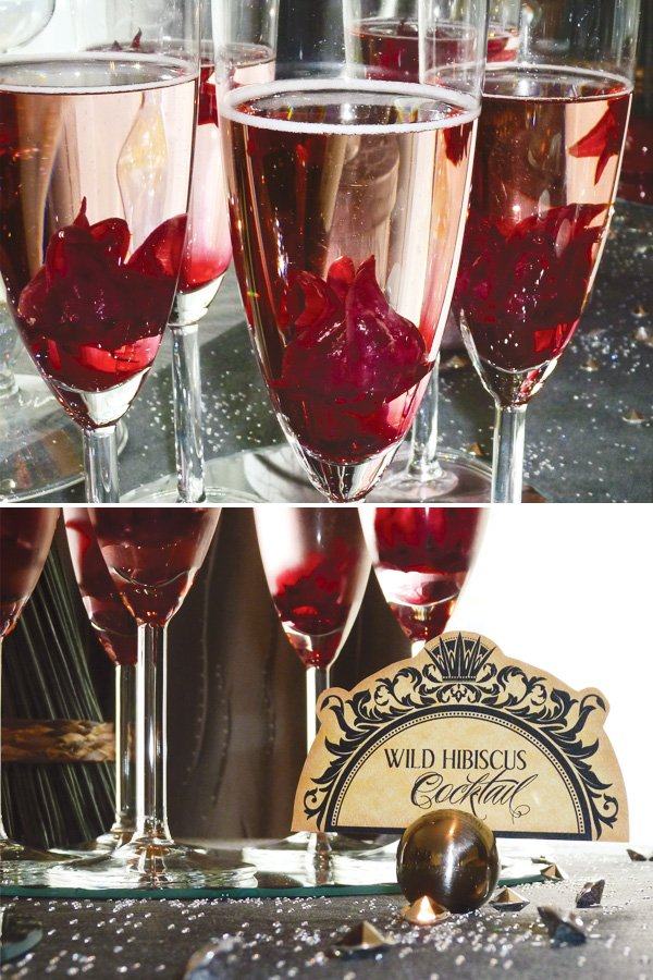 wild hibiscus cocktails for an evil snow white party