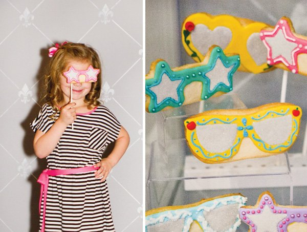 fashion party with cookie sunglasses