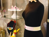 fashion show bust with a candy belt