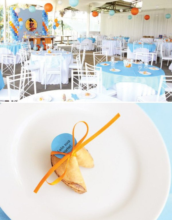 Fortune cookie table favor